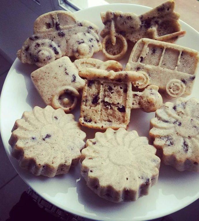 Gâteaux à la noix de coco et pépites de chocolat