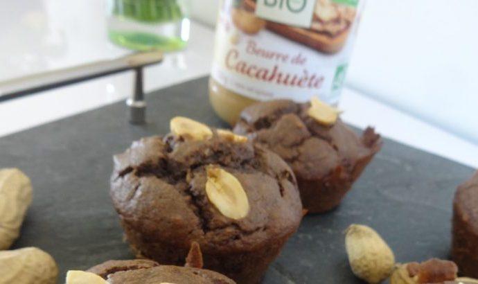 Muffins au chocolat et cacahuètes