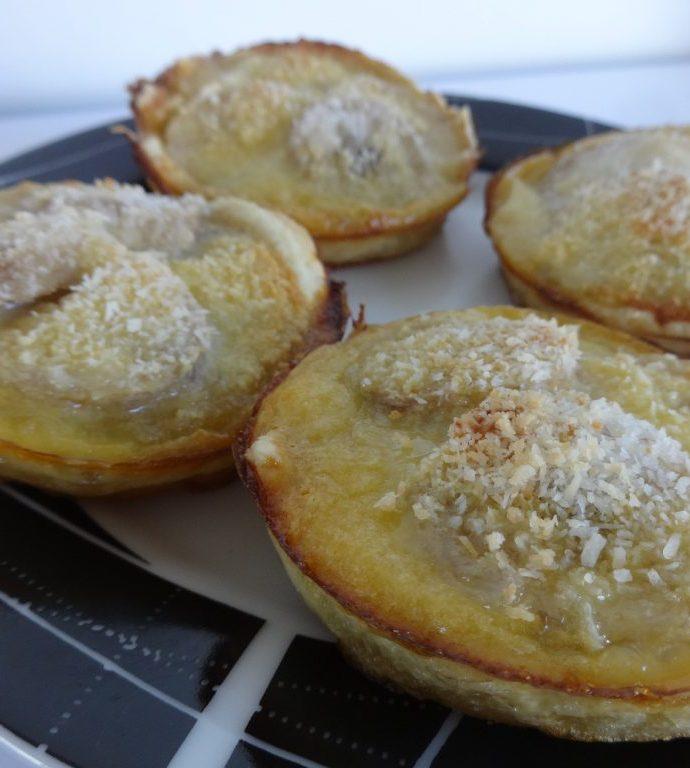 Minis tartelettes banane et noix de coco