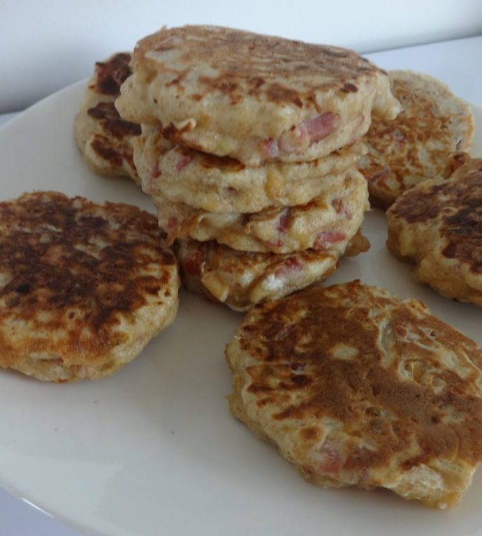 Blinis bacon cacahuètes