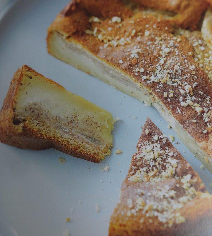 Gâteau magique poires et praliné