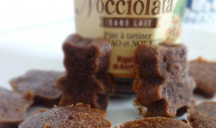 """Mini bouchées moelleuses au """"nocciolata""""( sans gluten, sans lactose )"""