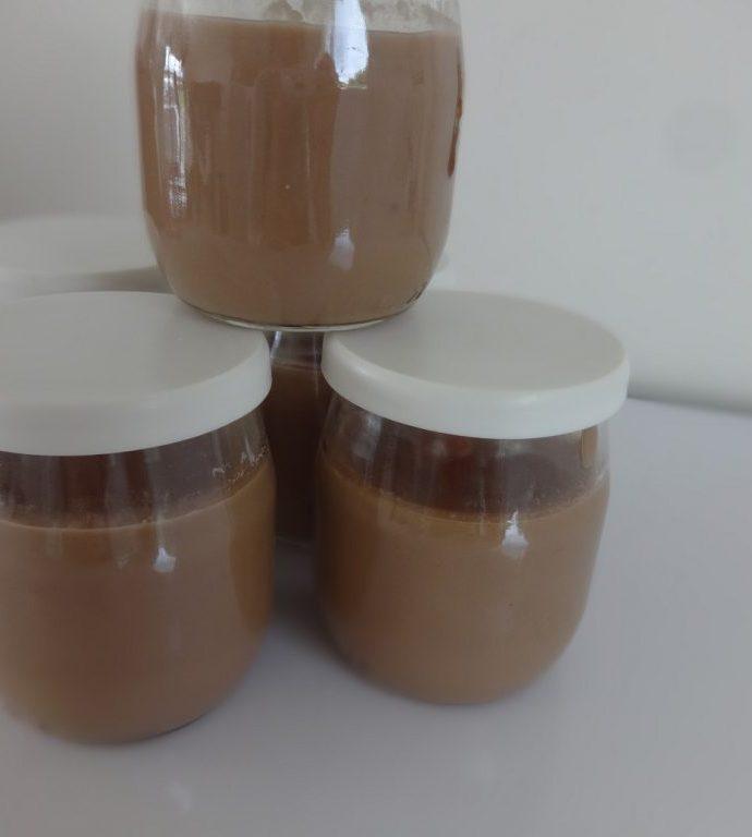 Crèmes dessert à la vanille et au chocolat