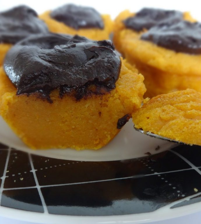 Cupcakes à la patate douce et au chocolat ( sans gluten, sans lactose, sans oeuf )