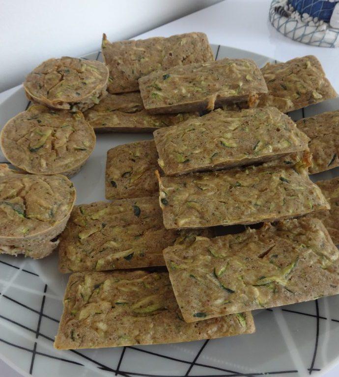 Mini cakes à la courgette ( sans gluten, sans lactose )