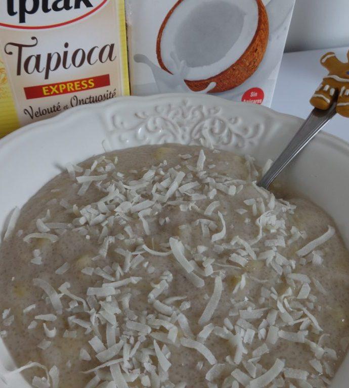 Tapioca au lait de coco et banane ( paléo )