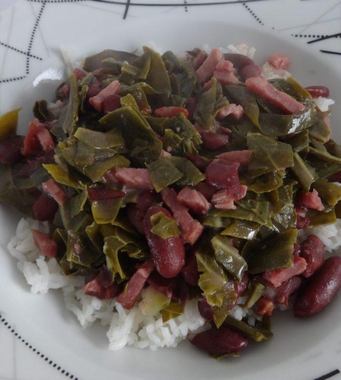 Mijoté de choux et haricots rouges