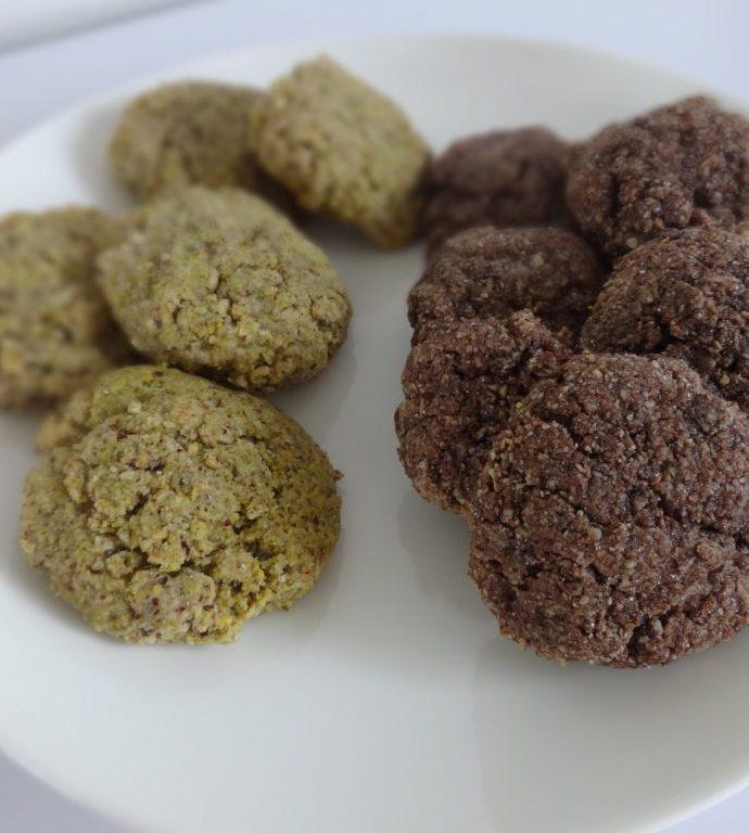 Amaretti au cacao ou à la pistache