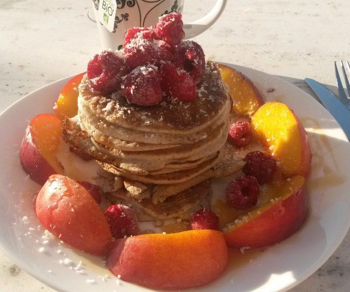Pancakes au sarrasin et au fromage blanc ( sans gluten , sans lactose )