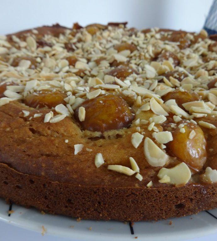 Gâteau aux mirabelles, ricotta et amandes