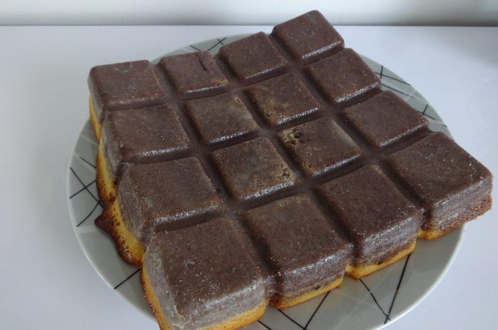 Gâteau magique au chocolat et caramel beurre salé
