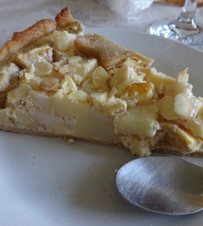 Tarte aux pommes et amandes ( avec pâte sablée allégée maison )