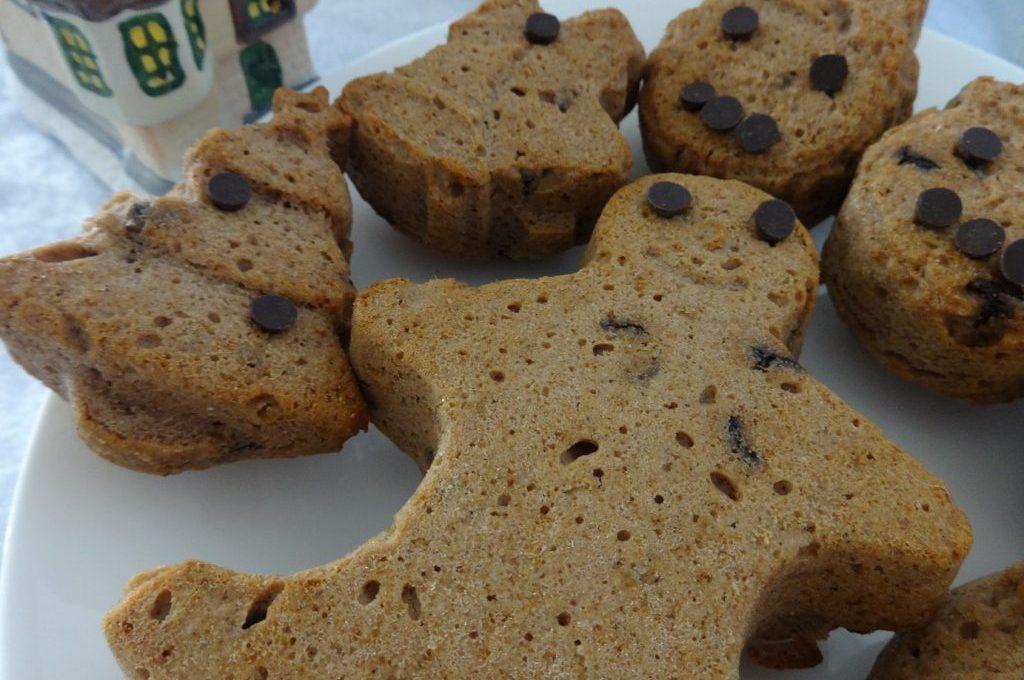 Muffins à la châtaigne et pépites de chocolat ( sans gluten, sans lactose et sans matière grasse )