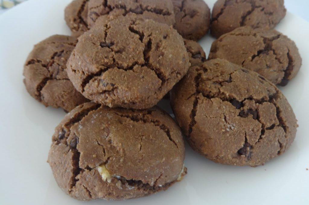 Cookies tout chocolat ( sans oeuf, sans beurre, sans sucre )