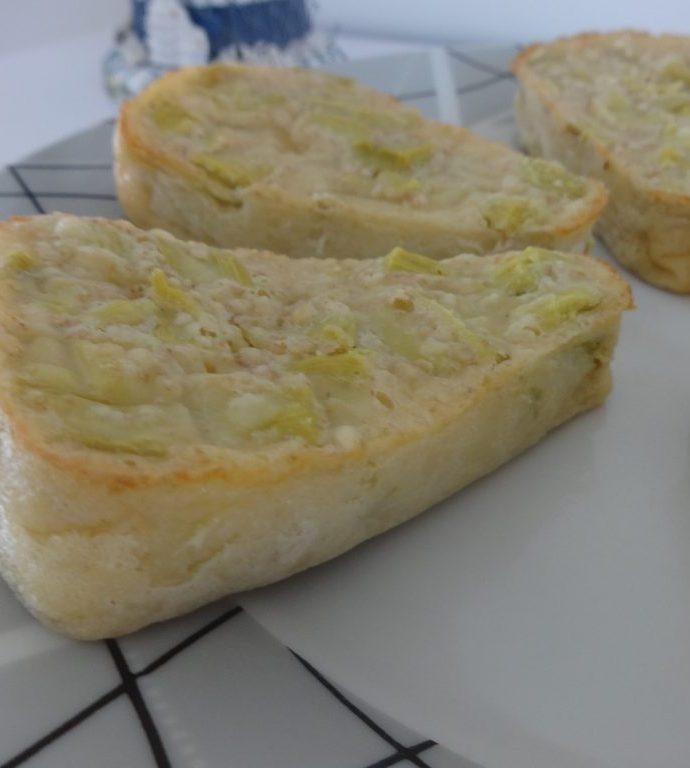 Clafoutis  à la rhubarbe ( sans beurre )