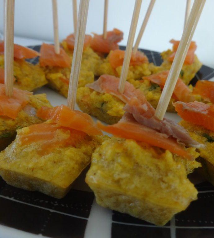 Tortilla chips au saumon fumé ( sans gluten, sans matière grasse )