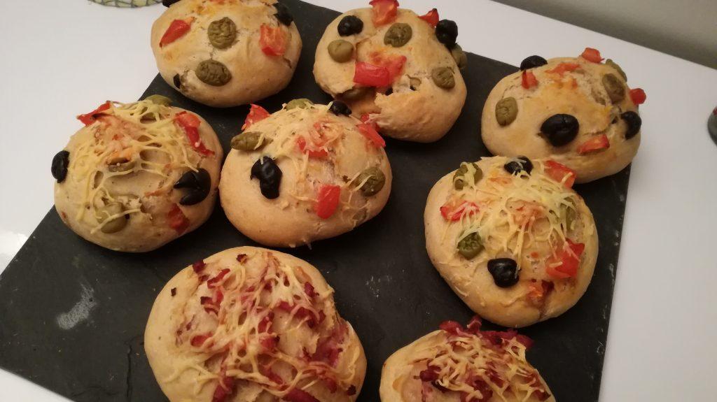 Focaccias olives/tomates