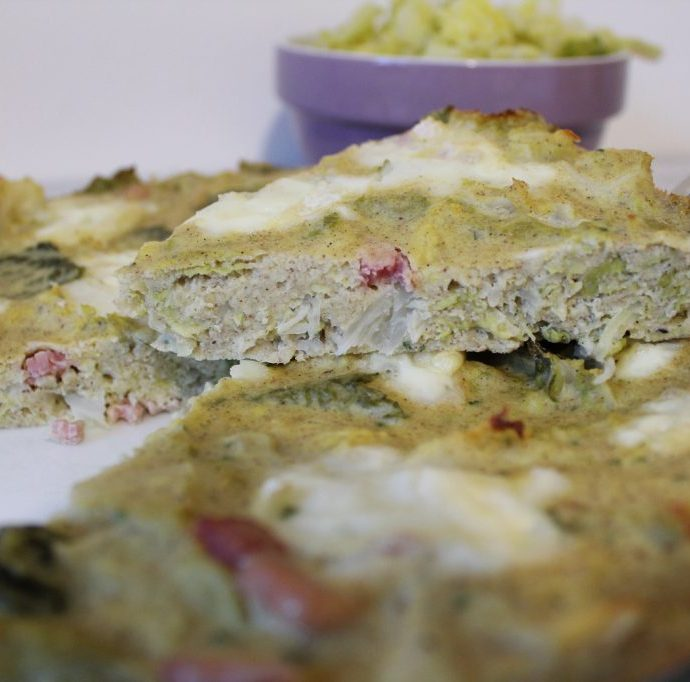 Quiche sans pâte au chou et chèvre ( san gluten )
