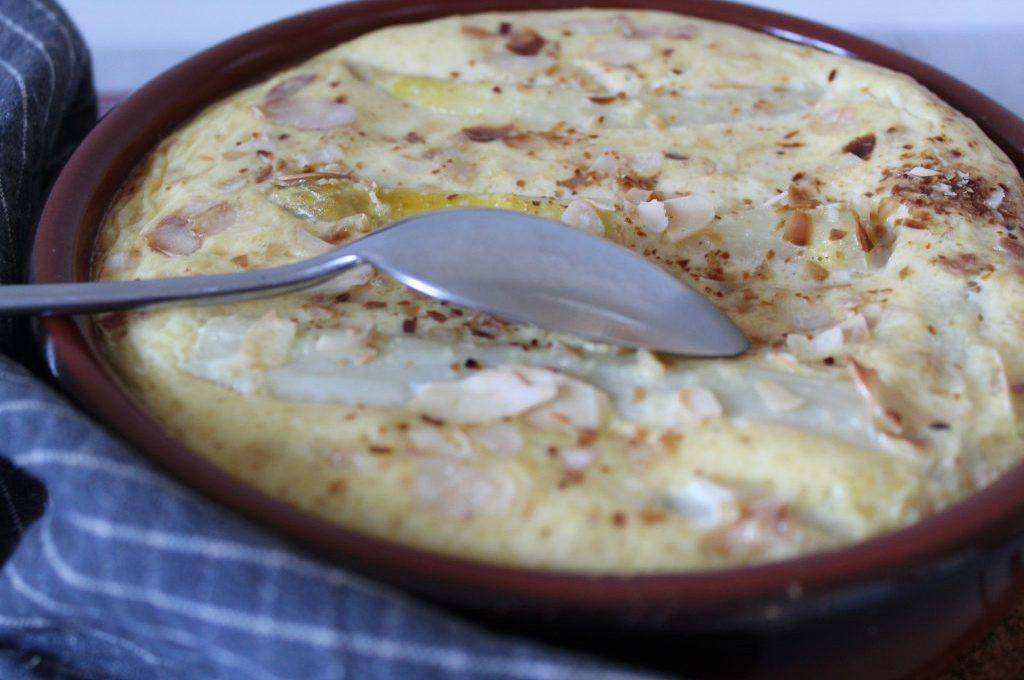 Clafoutis d'asperge au parmesan et aux amandes ( sans gluten )