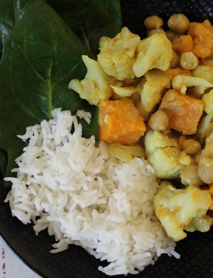 Curry de chou fleur et pois chiches