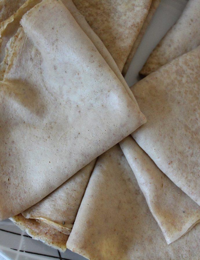 Crêpes légères à la farine semi complète