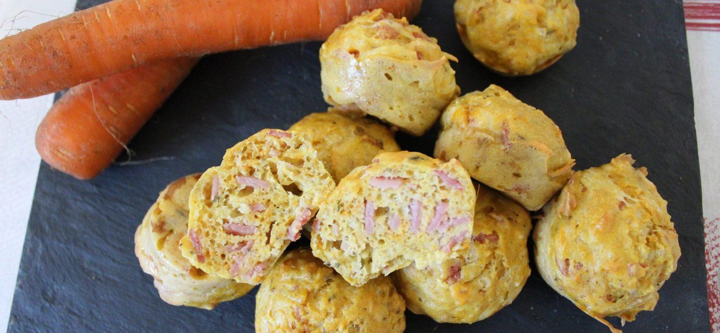 Muffins au jambon et carottes ( sans beurre )