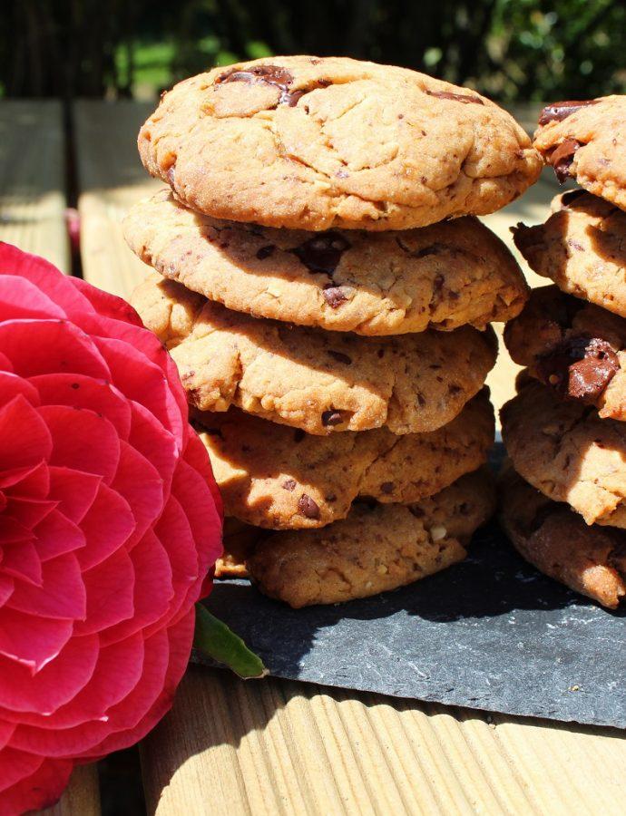Cookies au pralin et pépites de chocolat ( sans beurre )