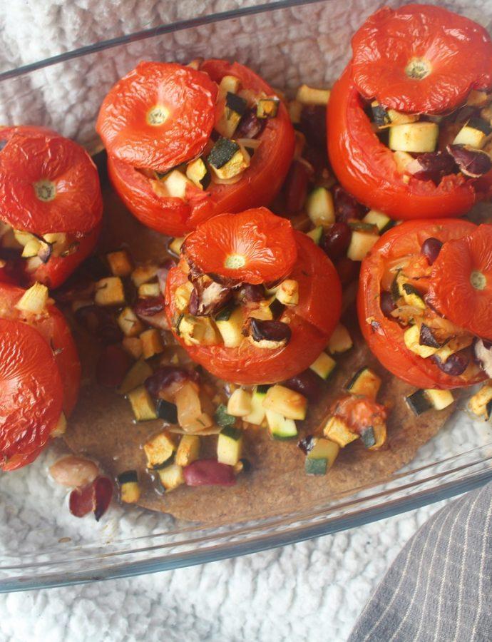 Tomates farcies aux légumes ( végétarien, sans gluten )